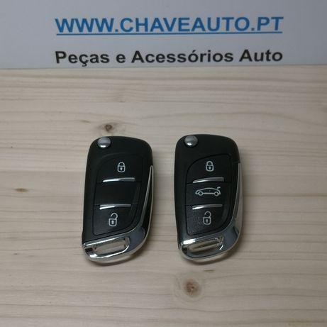 Carcaça Peugeot Citroen chave comando 2 ou 3 botões
