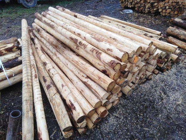 Słupki drewniane ogrodzeniowe stemple budowlane paliki kołki iglaste