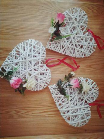 SERCA wiklinowe na ślub i inne okazje!!! 3 sztuki + tiul