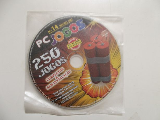 CD com 250 jogos para computador PC Jogos