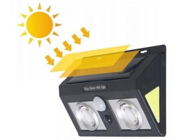 Lampa solarna kinkiet solar soczewka