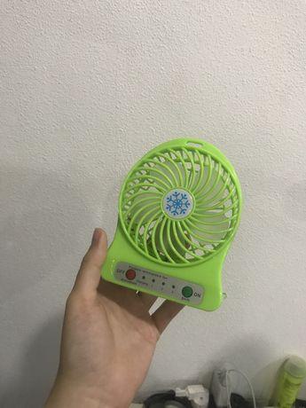 Вентилятор настольный маленький компактный мини на работу