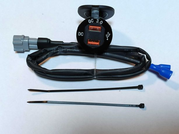 Ładowarka USB QC3.0 woltomierz Yamaha MT09 Tracer 9 900