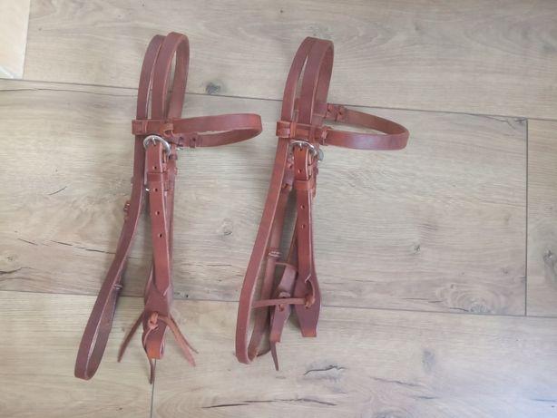 Ogłowia Kinghorse skóra harness treningowe prosty naczółek na rzemyki