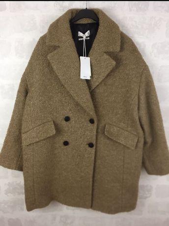 Mango oversizowy płaszcz z wełną M nowy