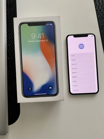 iPhone X 10 64 GB silver stan dobry