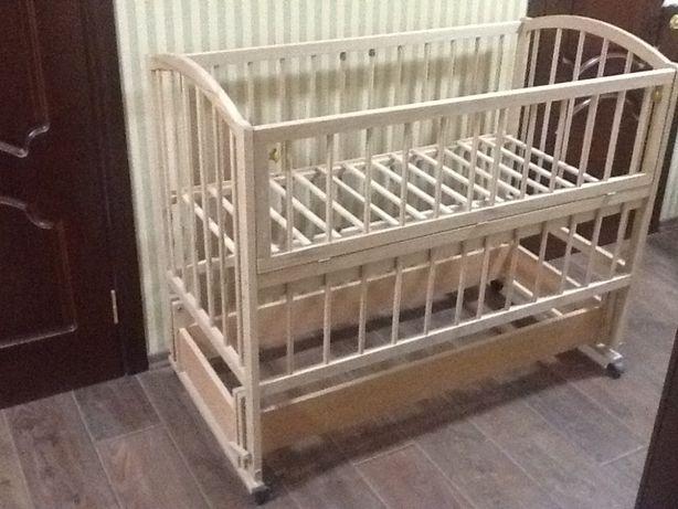 Новая Эко-детская кроватка из Карпатского бука, произв-во Мелитополь