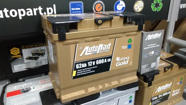 Akumulator AutoPart Galaxy Gold 62Ah 600A Mielec D15 CA640 Jenox Audi