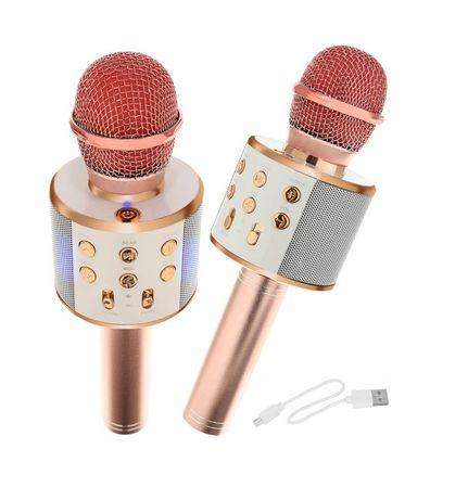MIKROFON karaoke Z GŁOŚNIKIEM BLUETOOTH złoty prezent zabawka