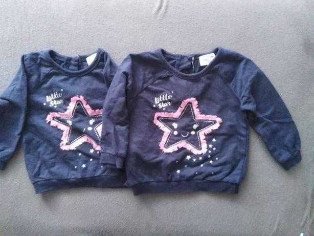 Bluzy dla bliźniaczek roz 86