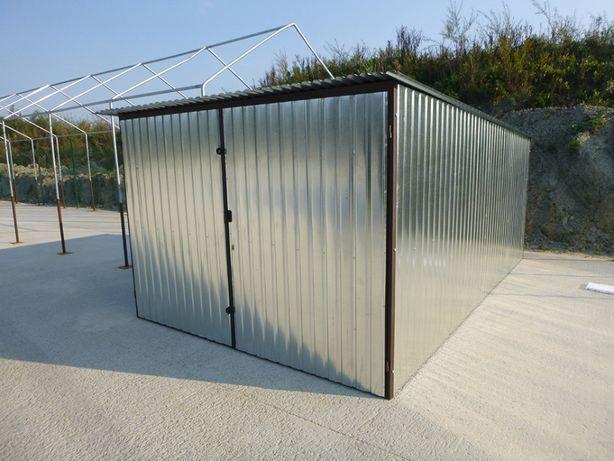 Garaże blaszane Garaż blaszany 3x5 brama blaszak na budowę WZMOCNIONY
