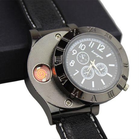 Zegarek męski z ukrytą Zapalniczką ładowaną na USB