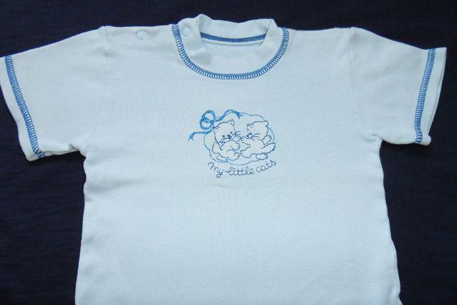Bluzeczki koszulki rozmiar 74/80 szt.4 + gratis