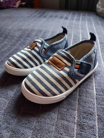 Buty tenisówki, ciapy na rzep dla chłopca niebieskie jeans roz 24