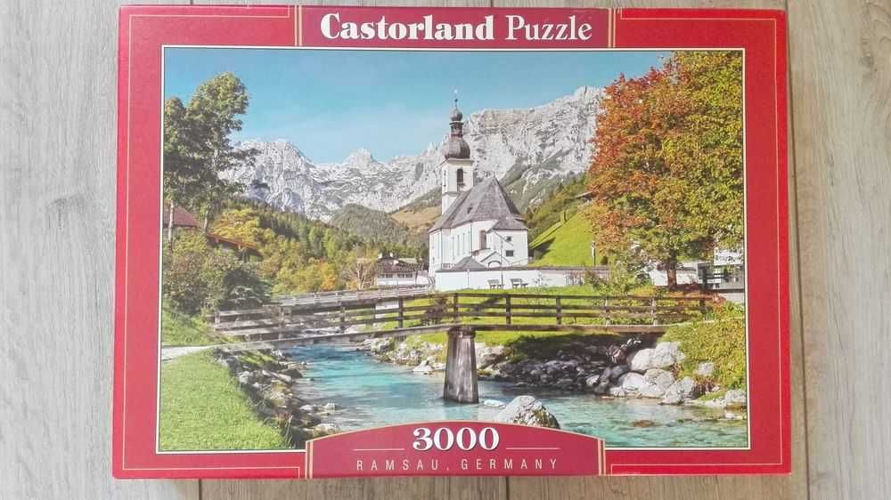 puzzle 3000/Castorland/jak nowe, kompletne/Ramsau, Germany C-300464
