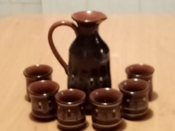 Karafka ceramiczna + 6 czarek
