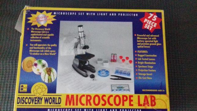 Mikroskop + akcesoria