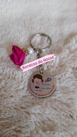 Porta chaves em aço para educadora/auxiliar 4.50€