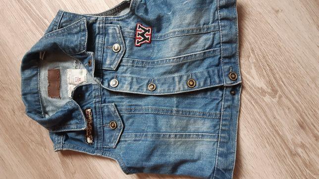 Zara kamizelka jeans rozmiar 98