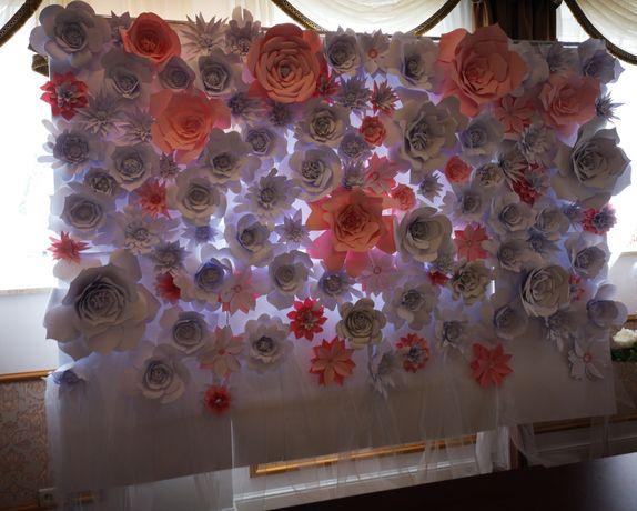 Ścianka kwiatowa na wesele ślub