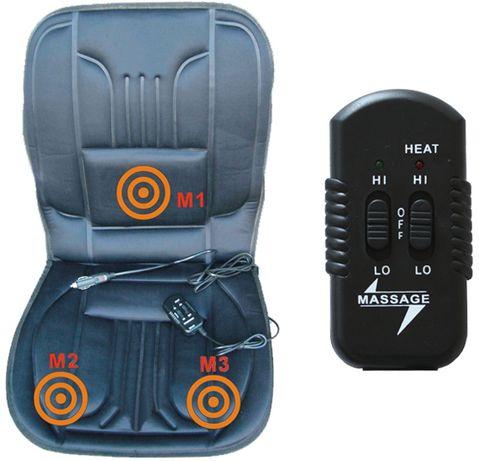 Podgrzewana mata na siedzenie 12V + masażer