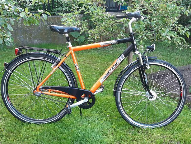 Rower Męski PRINCE Koła 28 Alu Amortyzowany 7 Bieg Sram Dynamo Shimano