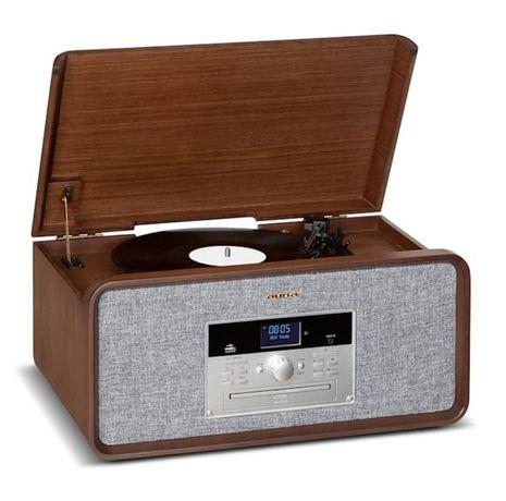 Gramofon radio CD drewno bluetooth nietuzinkowy wygląd