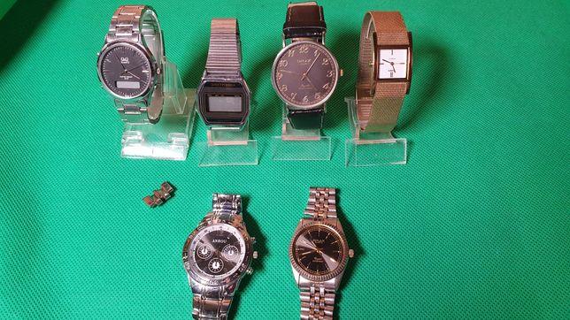 Наручные часы 6 штук qmax timex q&q электроника