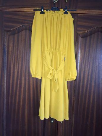 Vestido amarelo elegante