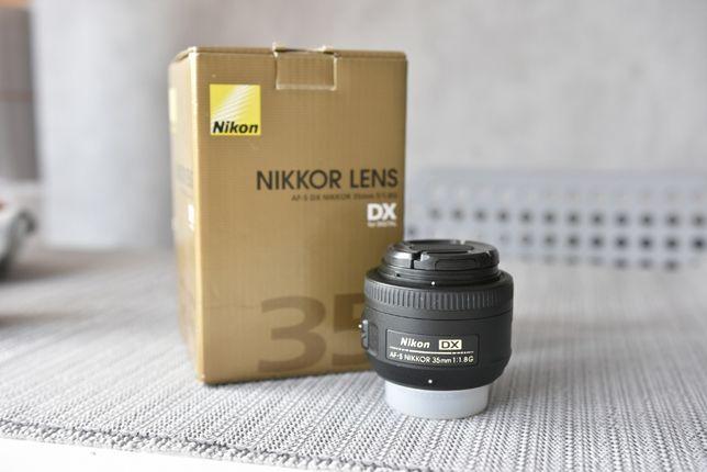 Nikkor 35mm 1.8 G DX, stan b.dobry, osłona, pokrowiec. Nikon