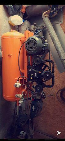 Kompresor sprężarka 200l 3x90 piaskarka