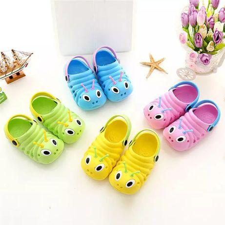 Резиновые сандалии на девочку, кроксы для девочки, шлепанцы 21-30