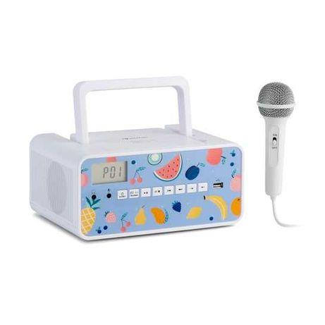 Radio Boombox + mikrofon, głośnik odtwarzacz CD, BT OKAZJA! A4