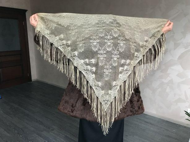 Золотая женская шаль - паутинка, ГДР