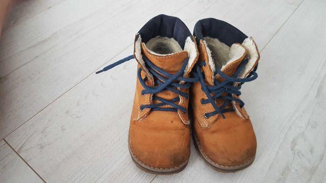 Buciki jesienno - zimowe Emel dla chłopca roz. 23