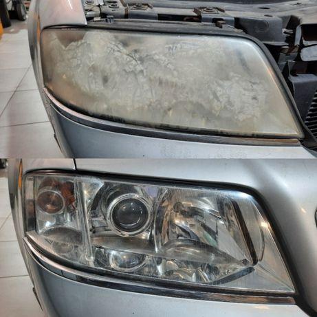 Renowacja reflektorów polerowanie lamp auto detailing moto detailing