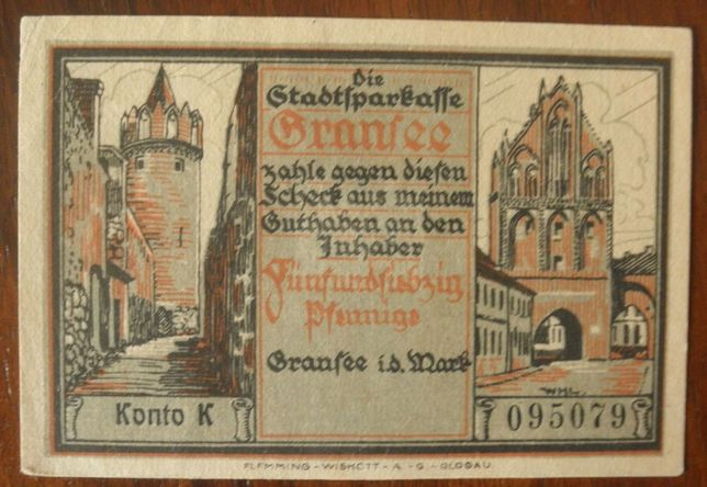 Notgeld niemcy 1921
