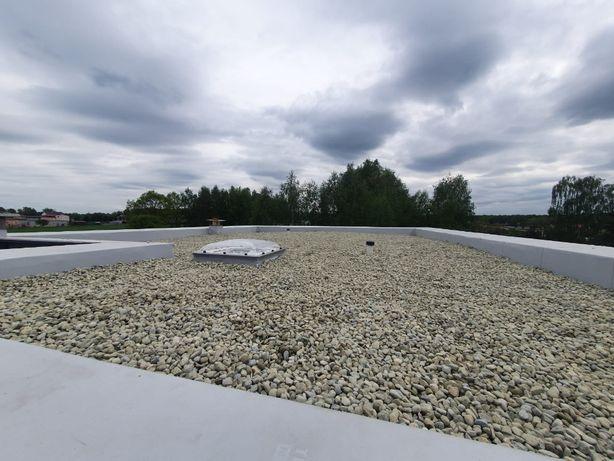 Dachy płaskie, balastowe, ocieplanie dachów membraną PVC