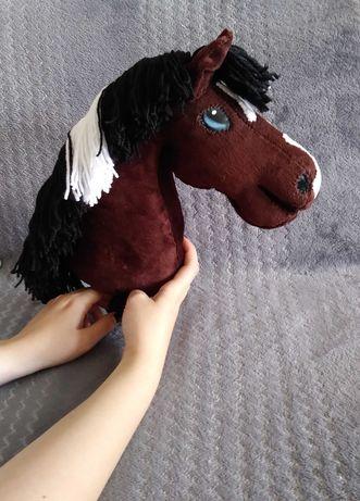 Konik hobby horse +kij, ręcznie szyty konik do skoków. Piękny