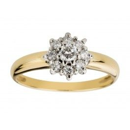 Cudowny Pierścionek złoty z brylantami może zaręczynowy złoto 585