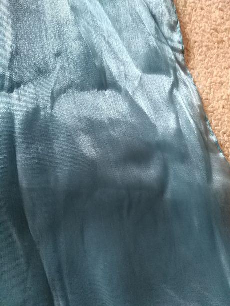 Echarpe de cerimónia, cor azul petróleo, acetinada NOVA