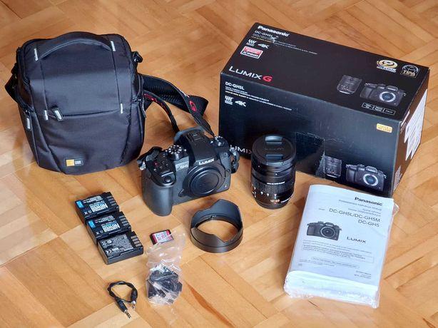 Aparat Panasonic GH5 + obiektyw LEICA 12-60mm F2.8-4 + karta + dodatki