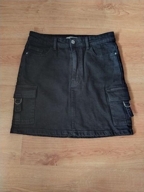 spódnica z jeansu, spódniczka czarna, bojówka rozm. 40