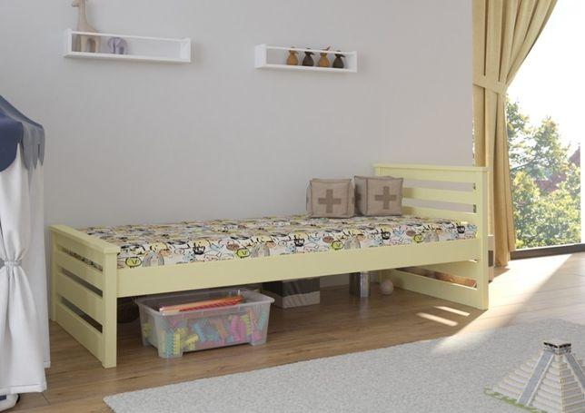Solidne łóżeczko dla dziecka Adaś z barierką i szufladami