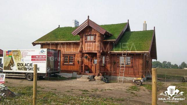 Ocieplanie Ocieplenie Izolacja dachu poddasza piana pianka PUR