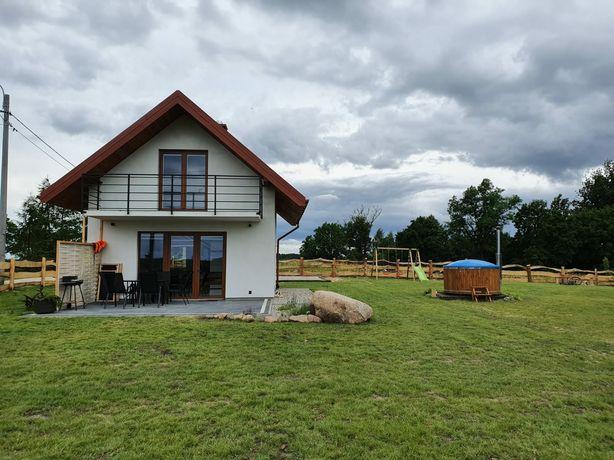 Domek nad jeziorem bania z jakuzzi PANIEŃSKI/KAWALERSKI/BONY