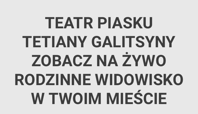Bilety teatr piasku Gniezno