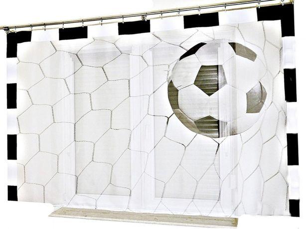 Firanka Piłkarska dla dzieci 250x150 nadruk Piłka w bramce B - BP