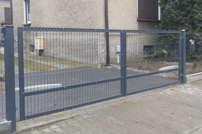 Brama Wjazdowa Skrzydłowa Panelowa Ocynk Malowanie Proszkowe Ostrołęka