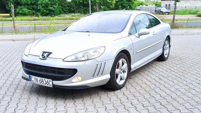 Peugeot 407 Coupe 2,0 HDI LIFT nawigacja skóry klima 2009r Zamiana